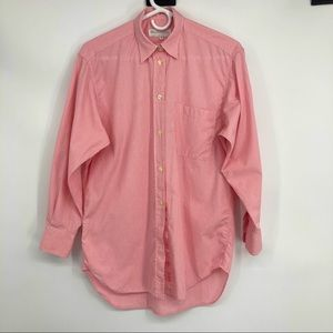 Women's Burberry Pink White Gingham Cotton Blouse
